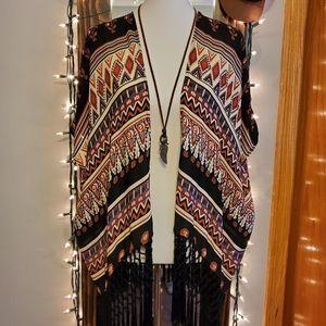 Forever 21 short sleeve kimono size M/L